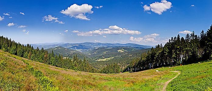 Stożek - panorama na N, E i S