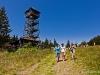 Wieża na Czantorii - Janek, Gosia i Asia