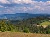 Barania Góra, w tle po prawej Pasmo Rysianki