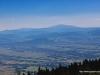 Widok w stronę Babiej Góry ze Skrzycznego, w dole Kotlina Zywiecka
