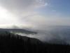 Morze mgieł - widok w stronę Wisły Czarnej