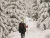 Coraz więcej śniegu - w drodze na Słowiankę