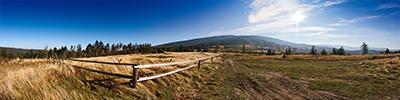 Suchy Groń - widok w stronę Romanki - widać wycięty las