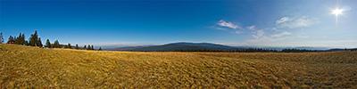 Hala Rysianka - panorama spod schroniska na Pilsko