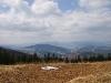 Daleko w tle Barania Góra a po lewej Skrzyczne