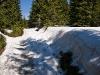 W niektórych miejscach jeszcze sporo śniegu
