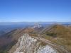 Widok z Chleba na północny-wschód - widać całą naszą drogę