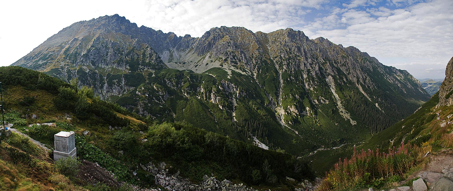 Dolina Roztoki - w górze Orla Perć