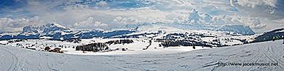 4. Alpe di Siusi, widok na południe