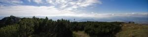 Panorama na południe z Wielkiego Chocza