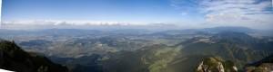 Panorama na północ z Wieliego Chocza