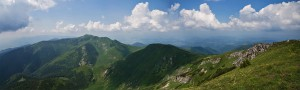 Panorama Małej Fatry z Wielkiego Krywania