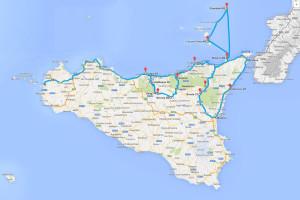 Sycylia - mapa podróży